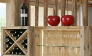 Wine rack with South Tyrolean wines - Chalet Obereggerhof