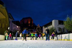 Ice-skating in Scena
