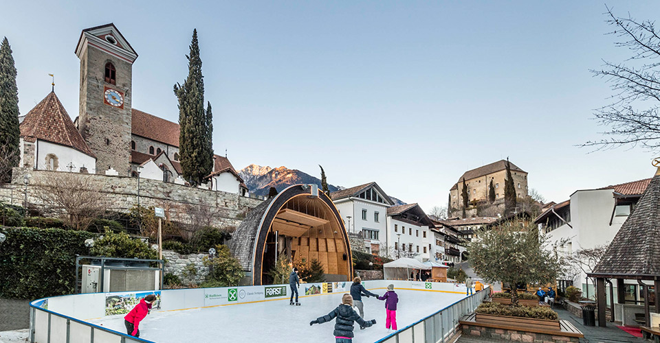 Ice skating rink in Schenna near Meran