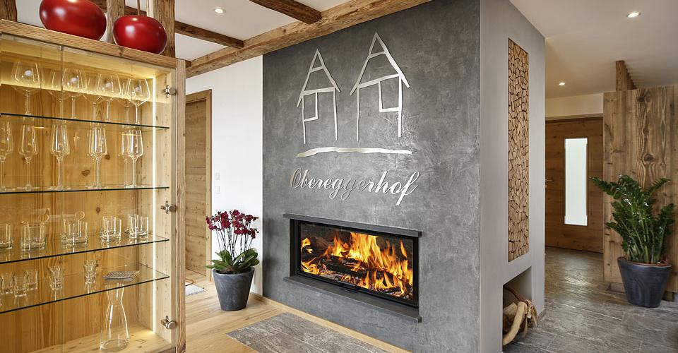 Newly built chalet with fireplace at Obereggerhof, Scena